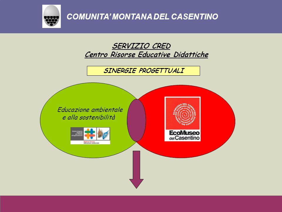 Educazione ambientale e alla sostenibilità COMUNITA MONTANA DEL CASENTINO SERVIZIO CRED Centro Risorse Educative Didattiche SINERGIE PROGETTUALI