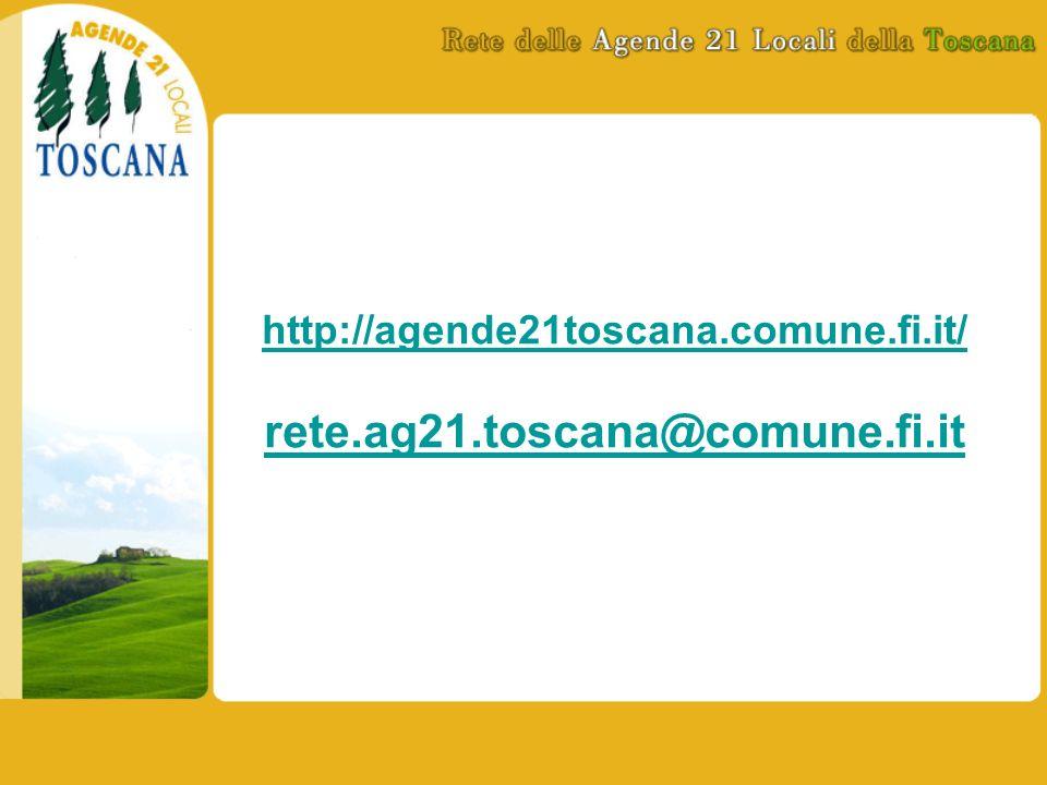 http://agende21toscana.comune.fi.it/ rete.ag21.toscana@comune.fi.it