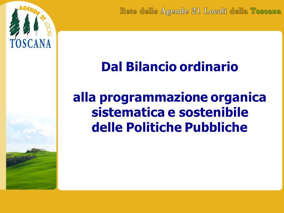 Dal Bilancio ordinario alla programmazione organica sistematica e sostenibile delle Politiche Pubbliche