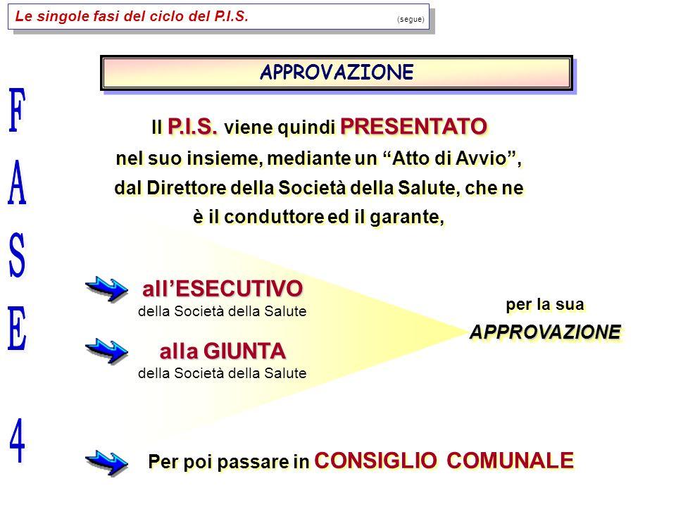 Le singole fasi del ciclo del P.I.S. (segue) P.I.S.PRESENTATO Il P.I.S.