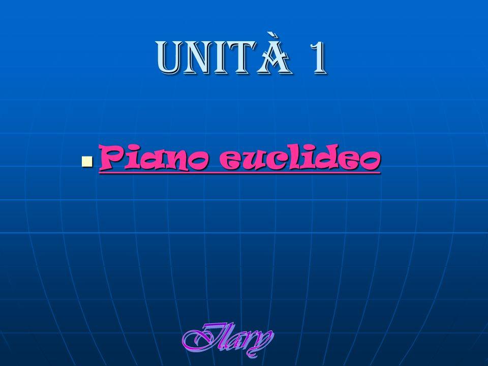 Unità 1 Piano euclideo Piano euclideo