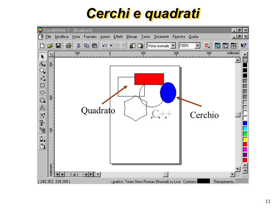 11 Cerchi e quadrati Quadrato Cerchio