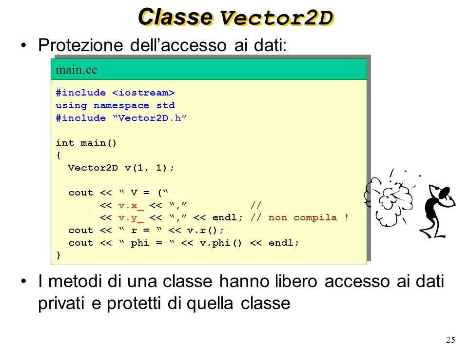 26 Selettore: metodo che non modifica lo stato (attributi) della classe.