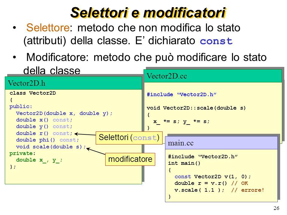 27 friend La keyword friend puo` essere usata perche` una funzione (o una classe) abbia libero accesso ai dati privati di unaltra classe class A {...