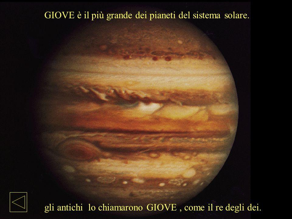 GIOVE è il più grande dei pianeti del sistema solare.