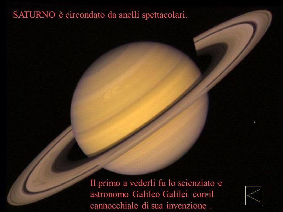 Il primo a vederli fu lo scienziato e astronomo Galileo Galilei con il cannocchiale di sua invenzione. SATURNO è circondato da anelli spettacolari.