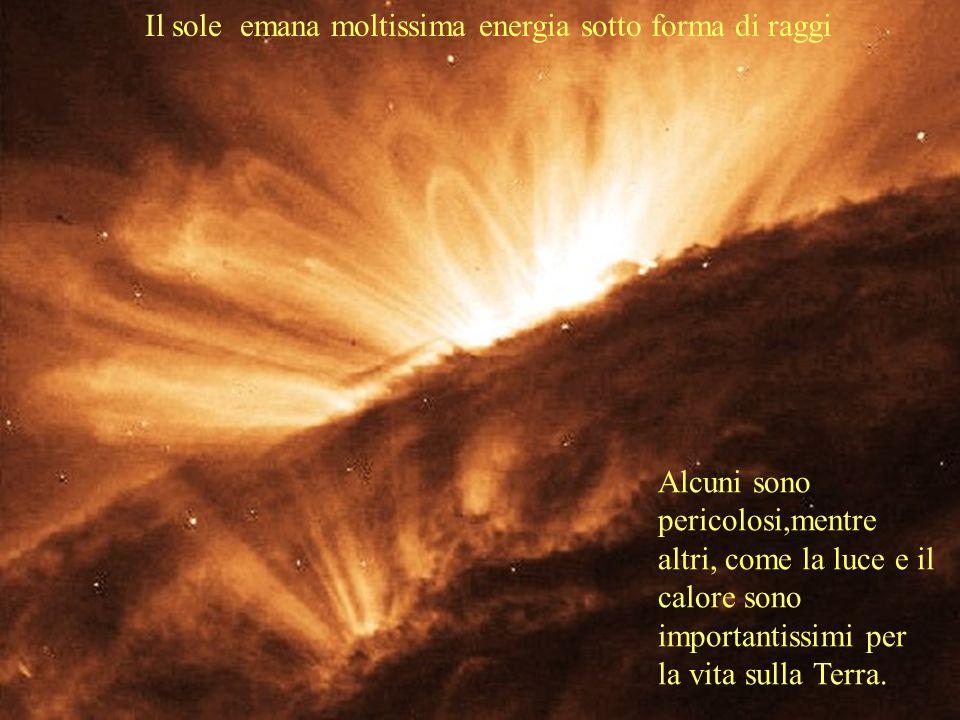 Alcuni sono pericolosi,mentre altri, come la luce e il calore sono importantissimi per la vita sulla Terra.