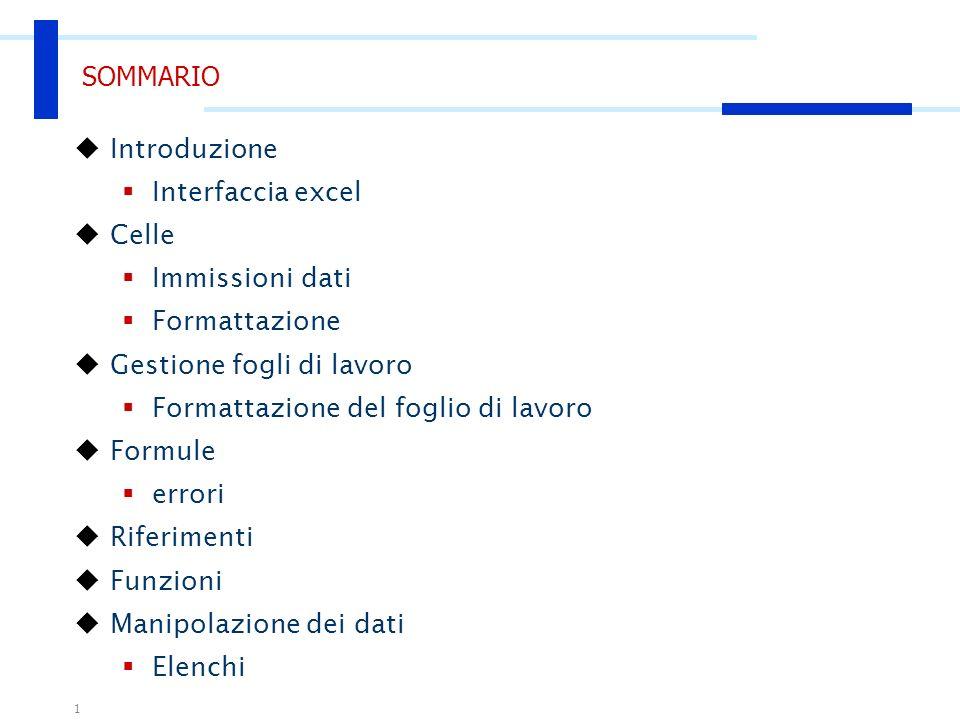 Microsoft Excel Nozioni di base Corso di Introduzione allInformatica Esercitatore: Agostino Forestiero