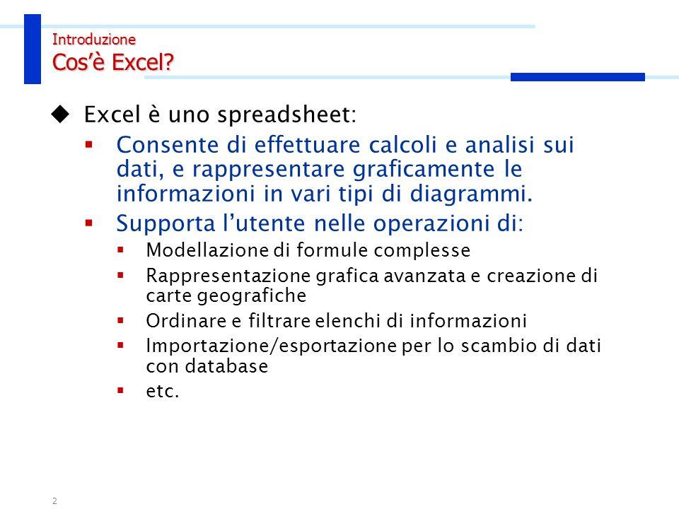 1 SOMMARIO Introduzione Interfaccia excel Celle Immissioni dati Formattazione Gestione fogli di lavoro Formattazione del foglio di lavoro Formule erro