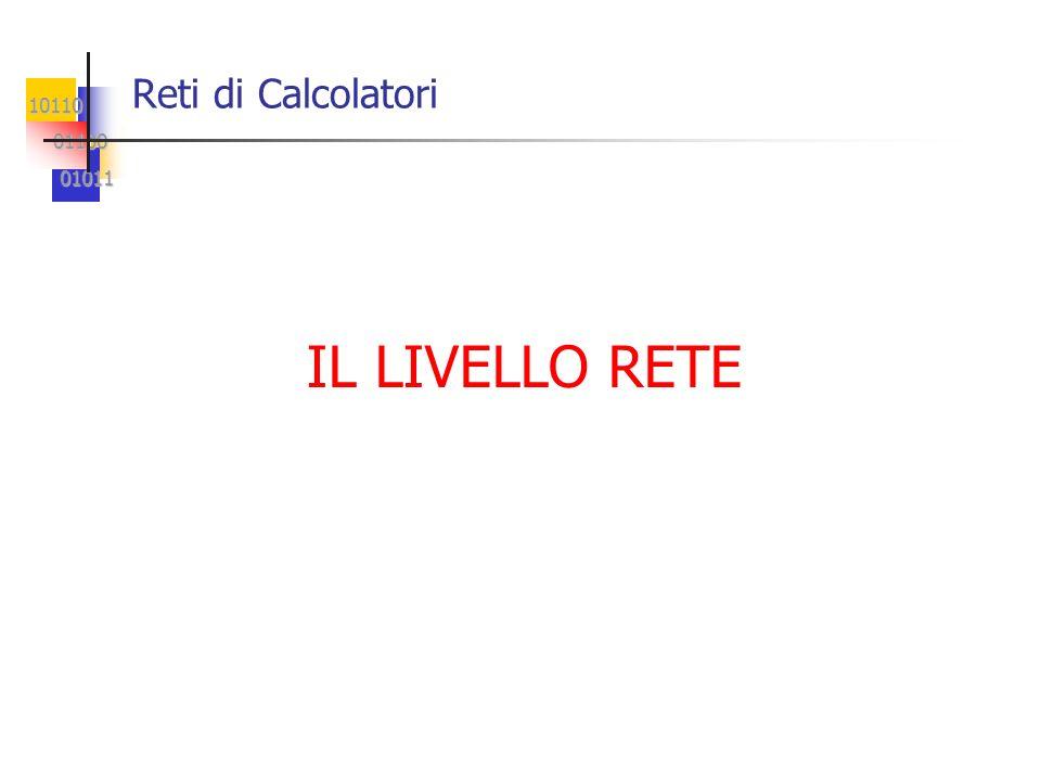 10110 01100 01100 01011 01011 Reti di Calcolatori IL LIVELLO RETE