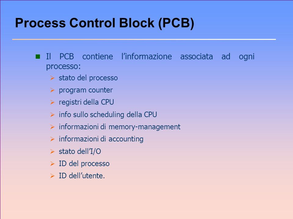 Esempio di classe che implementa Runnable class Saluti implements Runnable { private String nome; public Saluti(String nome) { this.nome = nome; } public void run() { for (int i = 0; i <= 10; i++) System.out.println( Ciao da +nome); } public class RunnableTest { public static void main(String args[]) { Saluti s = new Saluti( Thread2 ); Thread t = new Thread (s); t.start(); }
