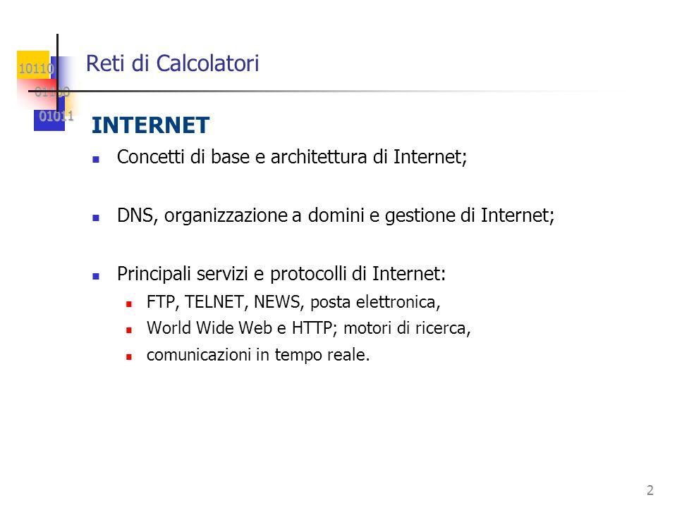10110 01100 01100 01011 01011 3 Evoluzione dellinformatica: dai mainframe alle reti Sistemi centralizzati Sistemi di rete