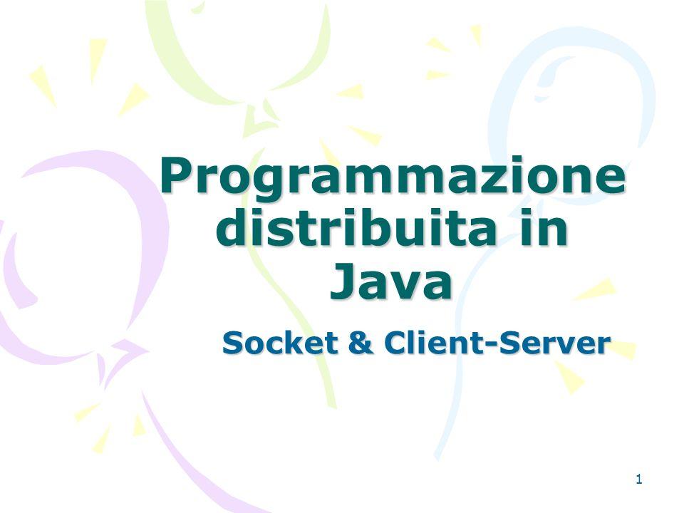 java.net.ServerSocket ServerSocket(int port): crea un server socket che controlla una porta.