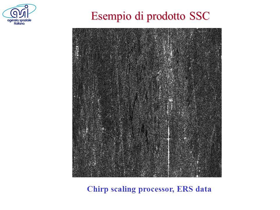 Esempio di prodotto SSC Chirp scaling processor, ERS data