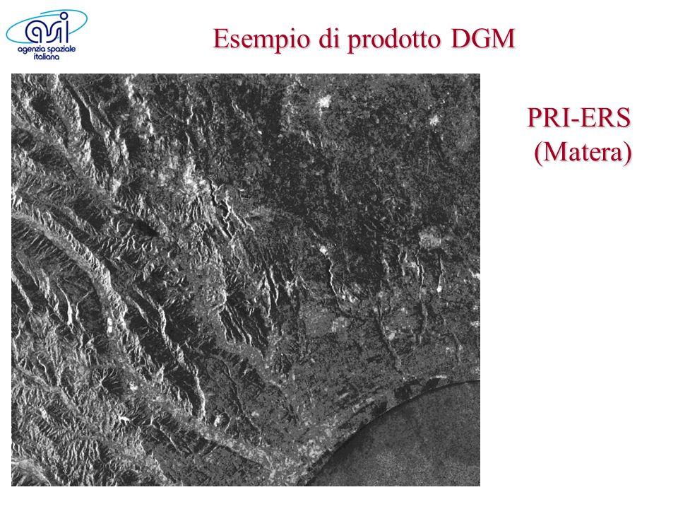 Esempio di prodotto DGM PRI-ERS (Matera)