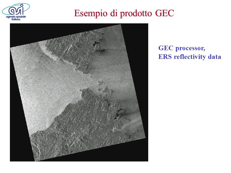 Esempio di prodotto GEC GEC processor, ERS reflectivity data
