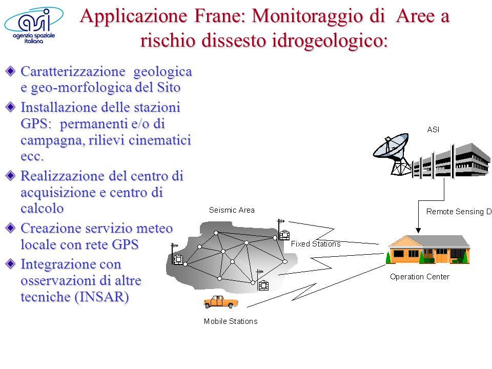 Applicazione Frane: Monitoraggio di Aree a rischio dissesto idrogeologico: Caratterizzazione geologica e geo-morfologica del Sito Installazione delle