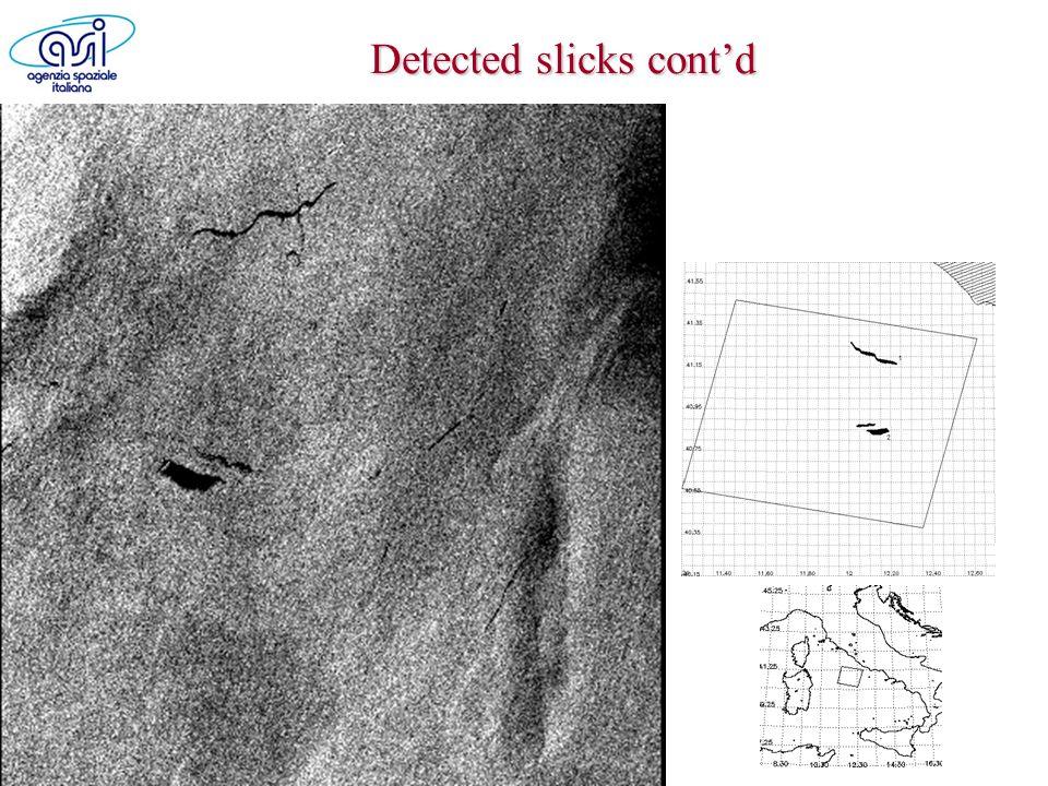 Detected slicks contd