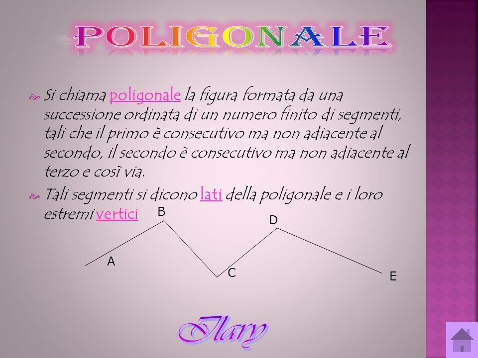 Si chiama poligonale la figura formata da una successione ordinata di un numero finito di segmenti, tali che il primo è consecutivo ma non adiacente a