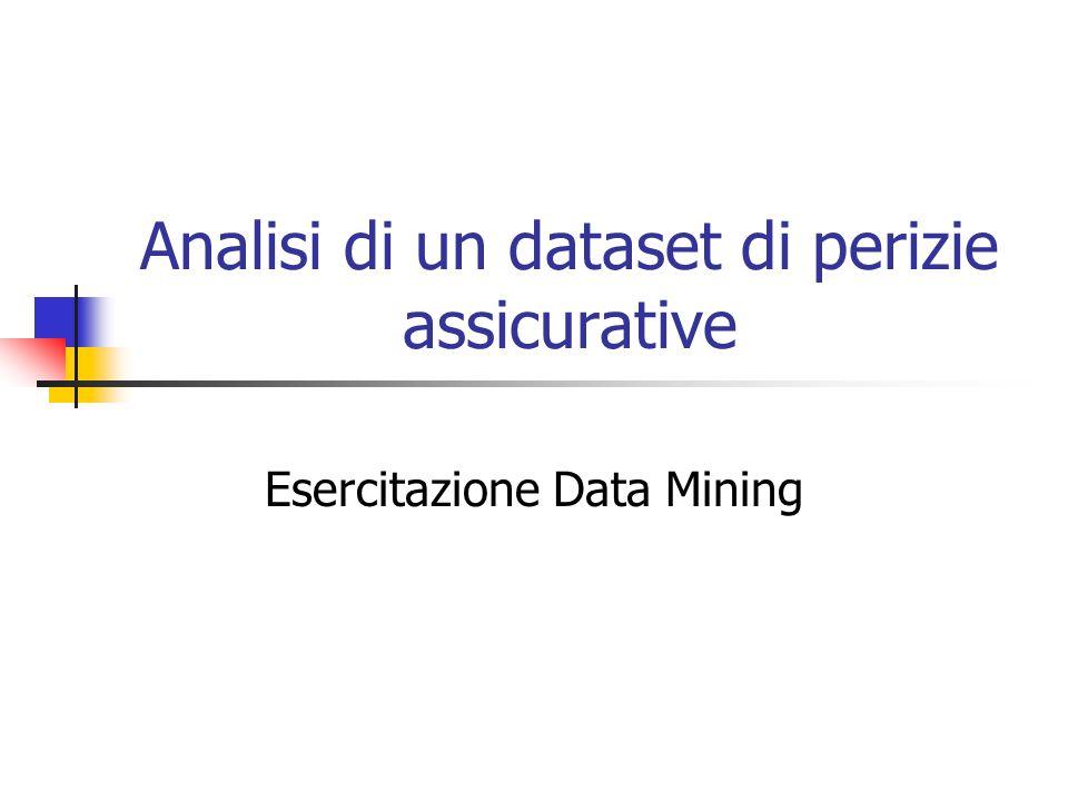Analisi di un dataset di perizie assicurative Esercitazione Data Mining