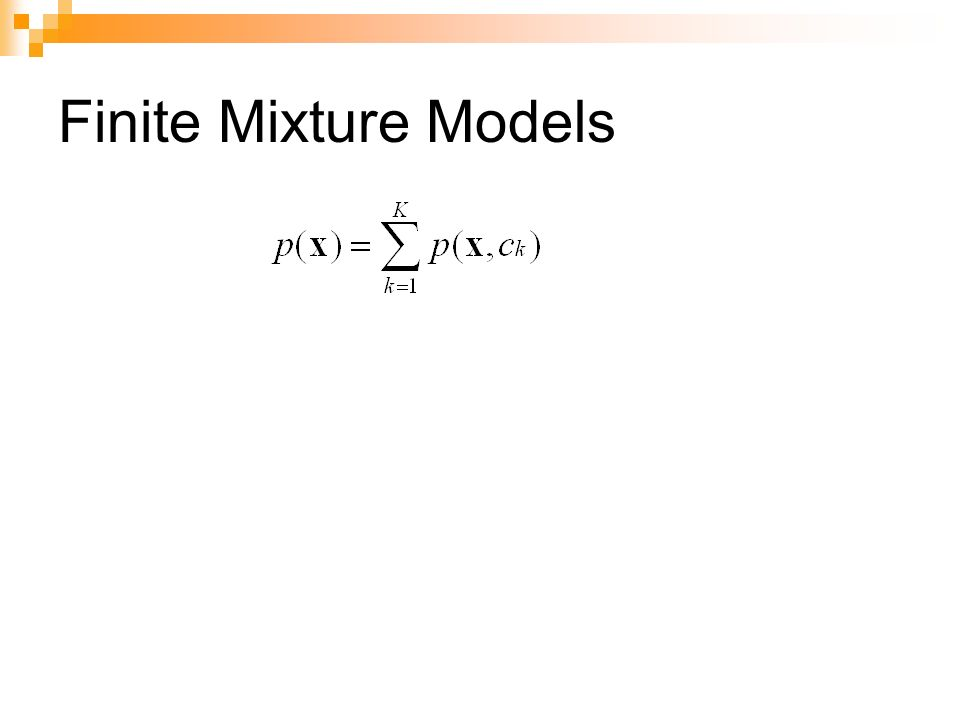 Expectation-Maximization (1/11) Questo algoritmo di clustering viene utilizzato per stimare i parametri del mixture-model che è alla base di un dataset Lalgoritmo migliora iterativamente il valore atteso della log- likelihood del mixture-model e con esso la stima dei parametri dei modelli È caratterizzato da due passi: Expectation: nel quale si effettua un assegnamento soft delle istanze ai cluster (si calcola la probabilità che unistanza appartenga ad un cluster) Maximization: nel quale si utilizzano gli assegnamenti del passo precedente per stimare, in maniera pesata in base alla probabilità di appartenenza di unistanza al cluster, i parametri dei modelli Si iterano Expectation e Maximization fino alla convergenza dei parametri che si stanno stimando