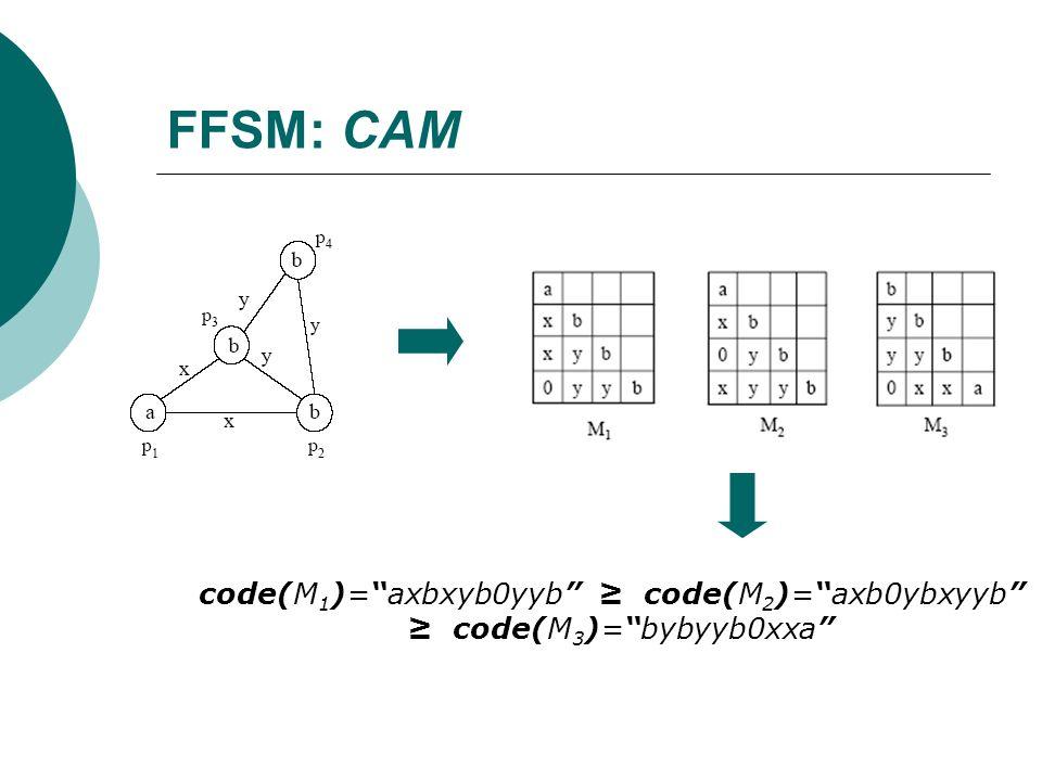 FFSM: CAM code(M 1 )=axbxyb0yyb code(M 2 )=axb0ybxyyb code(M 3 )=bybyyb0xxa