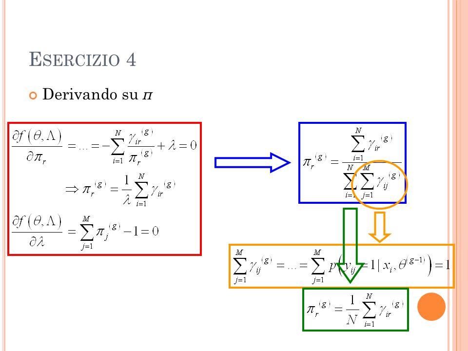 E SERCIZIO 4 Derivando su π