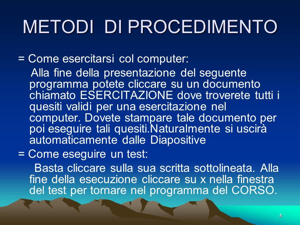 3 PREMESSA Il corso è indirizzato principalmente a persone che conoscono poco il computer. Trova ottima applicazione nei Laboratori di Informatica e n