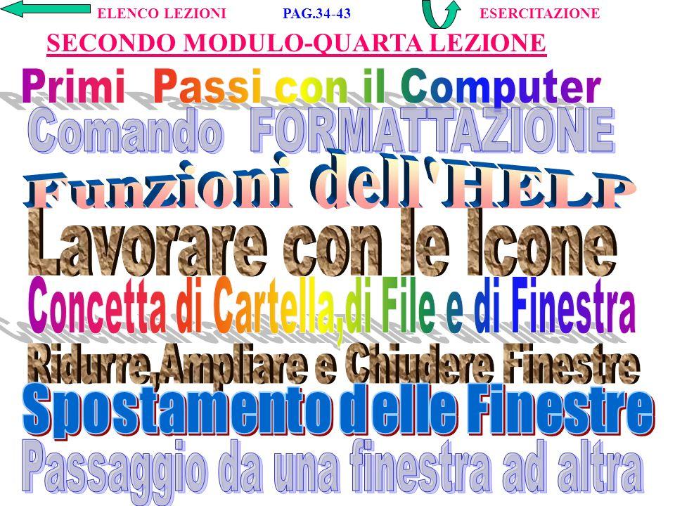 Motori di Ricerca in INTERNET; Invio di MESSAGGI in INTERNET; Backup con il programma ARGO e con Hard Disk; Come si utilizza un Antivirus (F-PROT); Programma CABRI di GEOMETRIA; Programma COZZA di ALGEBRA.