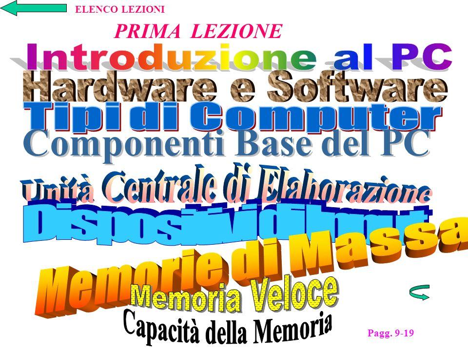 PRIMA LEZIONE Pagg. 9-19 ELENCO LEZIONI