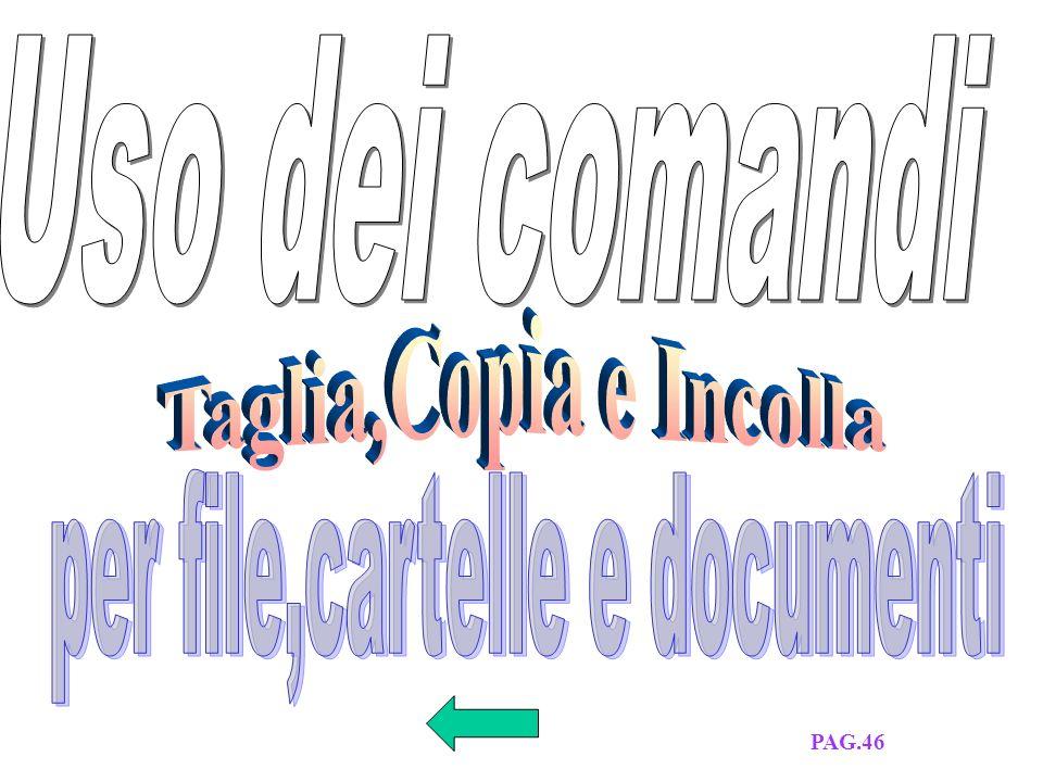 COME COPIARE UN FILE O CARTELLA DA DISCO FISSO A DISCHETTO COME COPIARE UN FILE O CARTELLA DA DISCHETTO A DISCO FISSO PAG.45 E 46