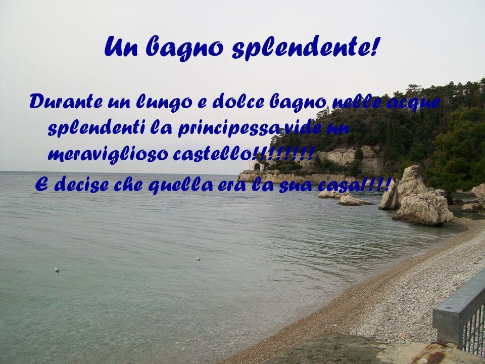 Un bagno splendente! Durante un lungo e dolce bagno nelle acque splendenti la principessa vide un meraviglioso castello!!!!!!!! E decise che quella er