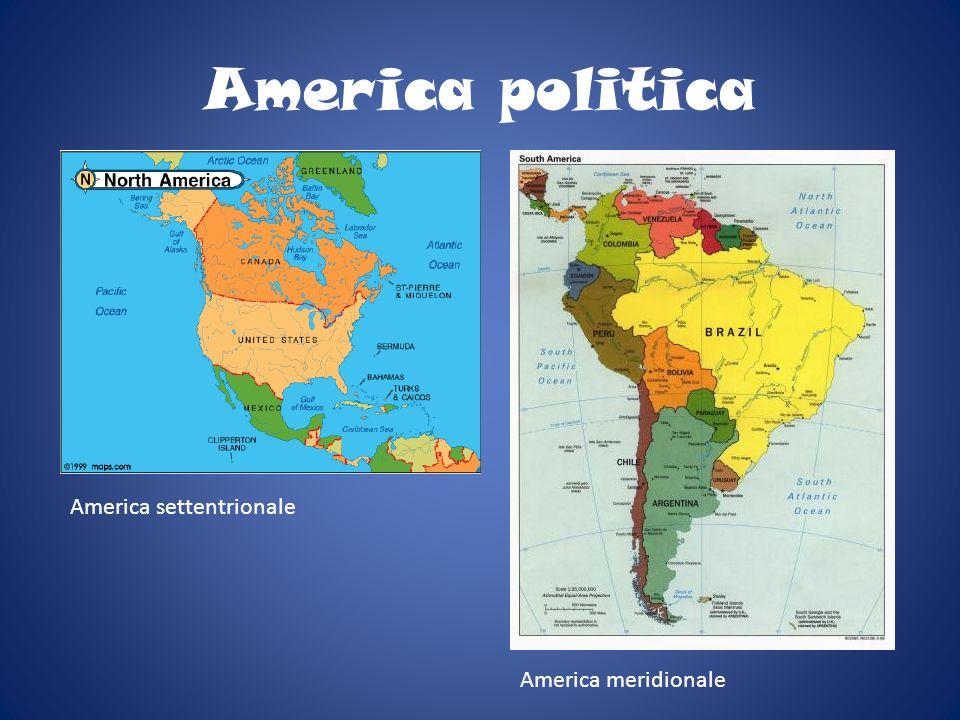 America politica America settentrionale America meridionale