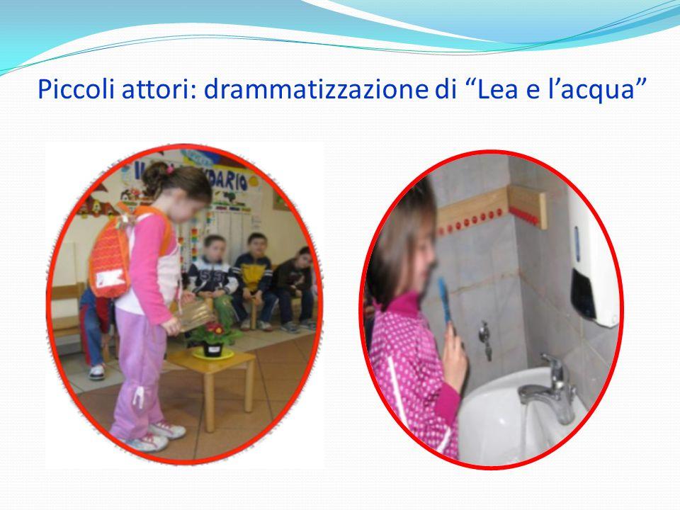 Piccoli attori: drammatizzazione di Lea e lacqua
