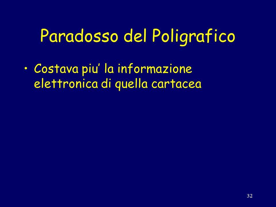 32 Paradosso del Poligrafico Costava piu la informazione elettronica di quella cartacea