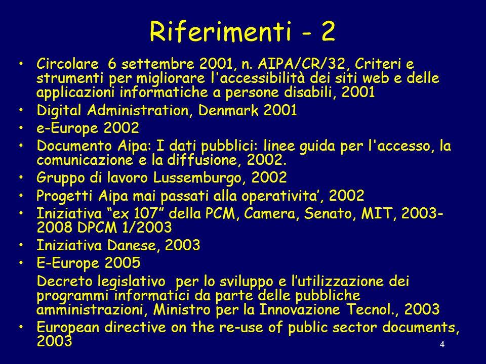 4 Riferimenti - 2 Circolare 6 settembre 2001, n.