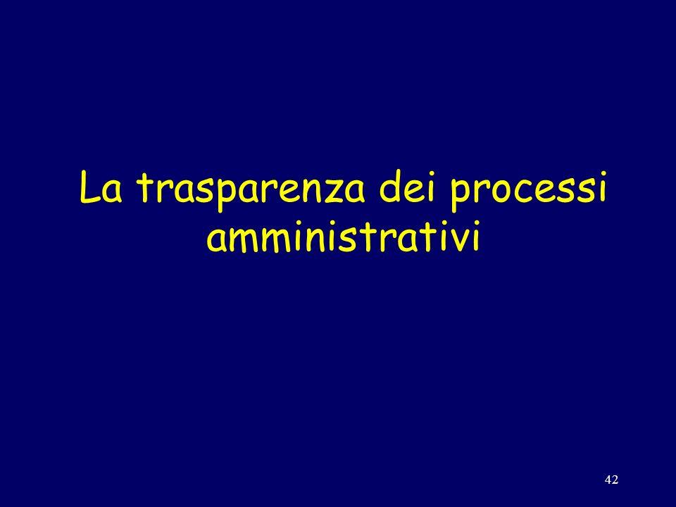 42 La trasparenza dei processi amministrativi