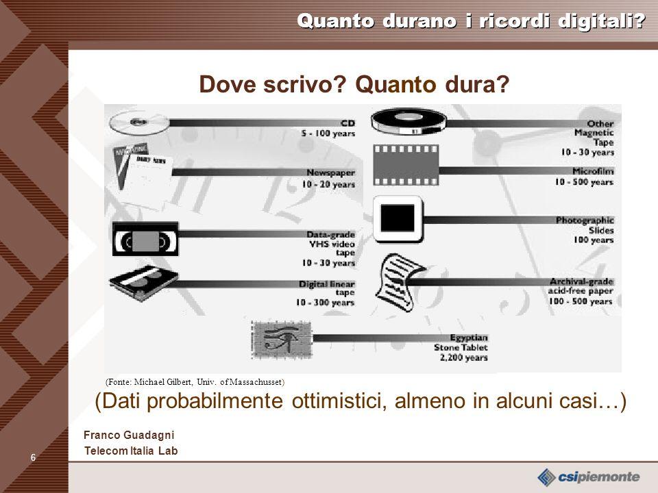 5 Franco Guadagni Telecom Italia Lab Quanto durano i ricordi digitali.