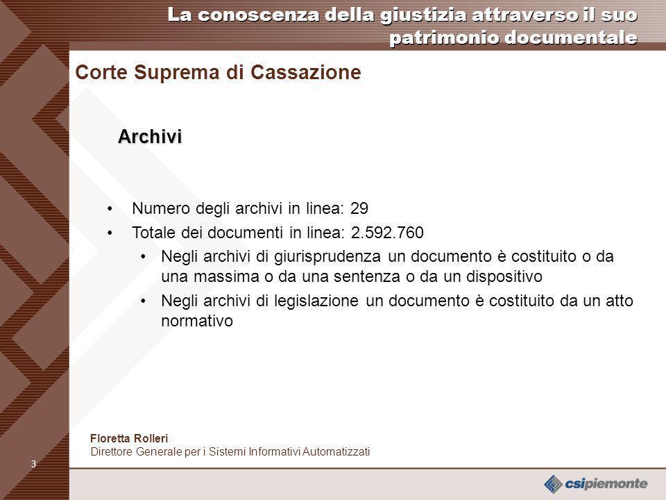 2 Cenni storici Il sistema di informatica giuridica della Corte di Cassazione italiana nasce nel 1966 per liniziativa di alcuni magistrati Si sviluppa