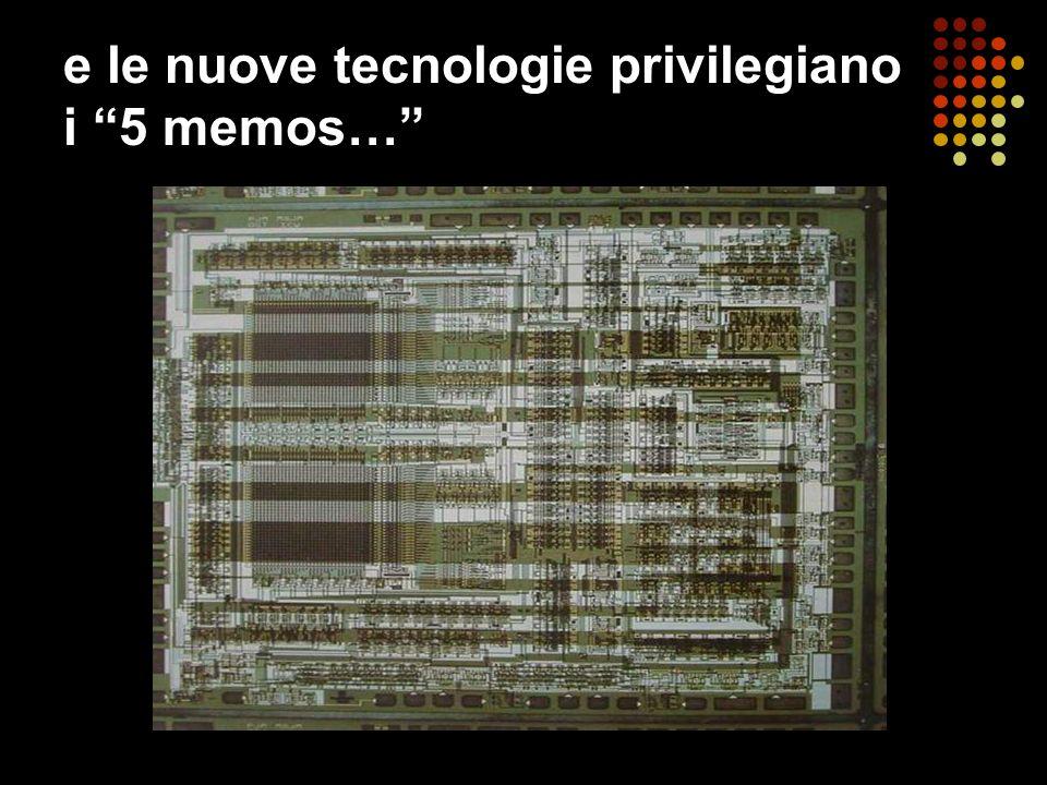 e le nuove tecnologie privilegiano i 5 memos…