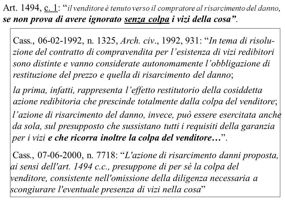 Cass., 06-02-1992, n.1325, Arch.