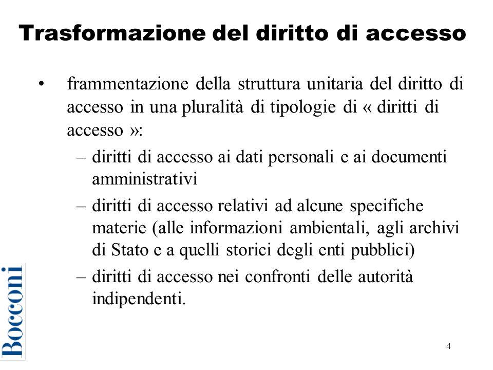 15 La tutela speciale Se diniego riguarda accesso ai dati personali da parte del titolare: –ricorso al Garante della privacy o al giudice ordinario (art.