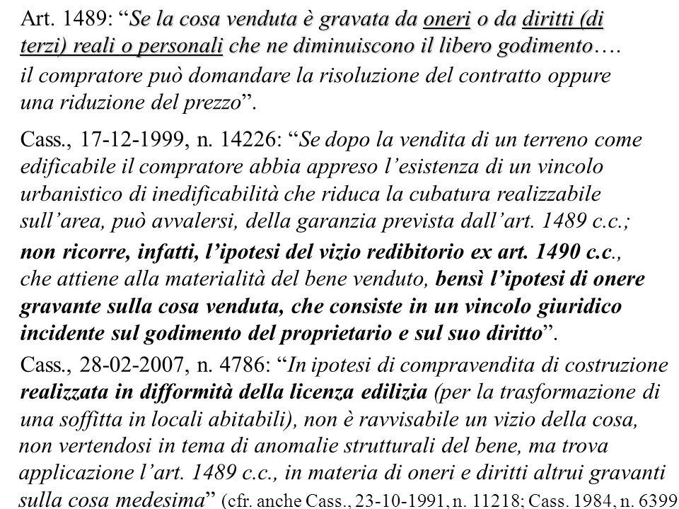 Cass., 17-12-1999, n.