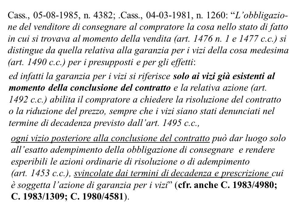 1492.Effetti della garanzia.1. Nei casi indicati dall art.