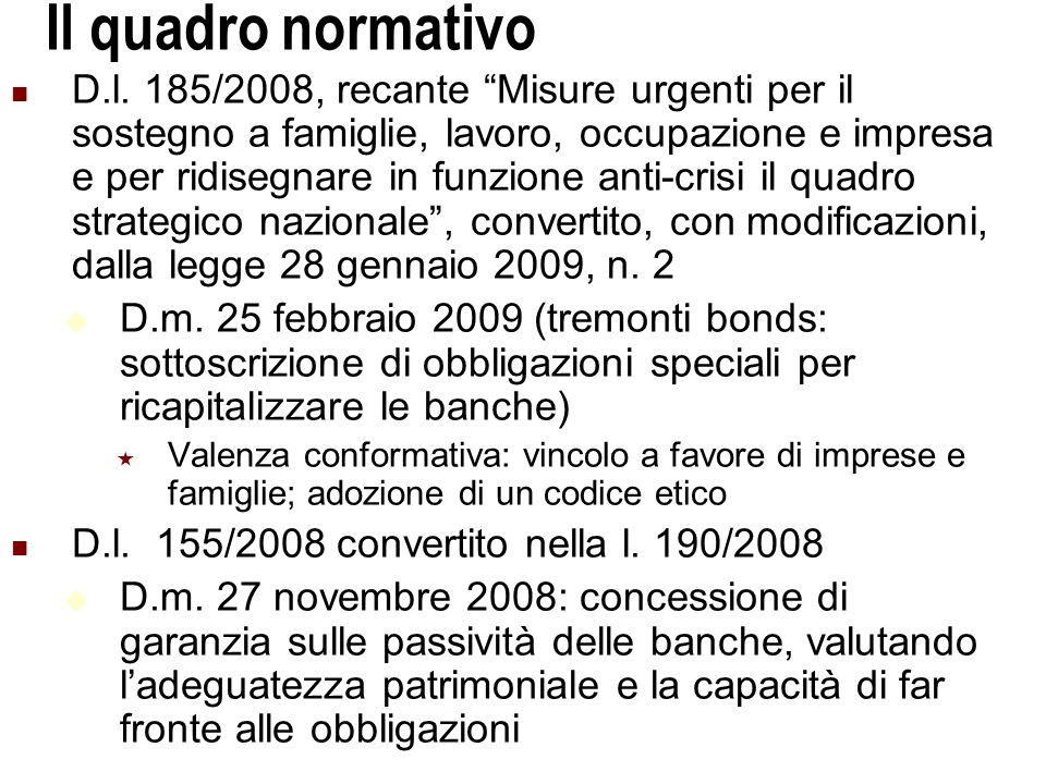 Università Commerciale L. Bocconi - Milano 12 Il quadro normativo D.l.