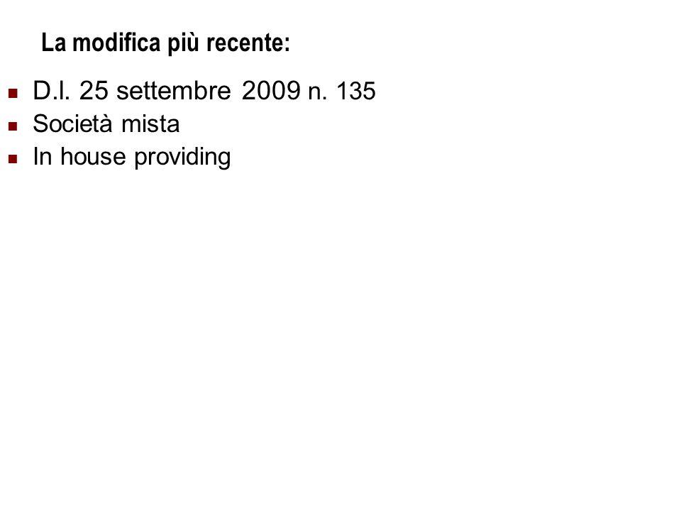 Università Commerciale L.Bocconi - Milano 20 La modifica più recente: D.l.