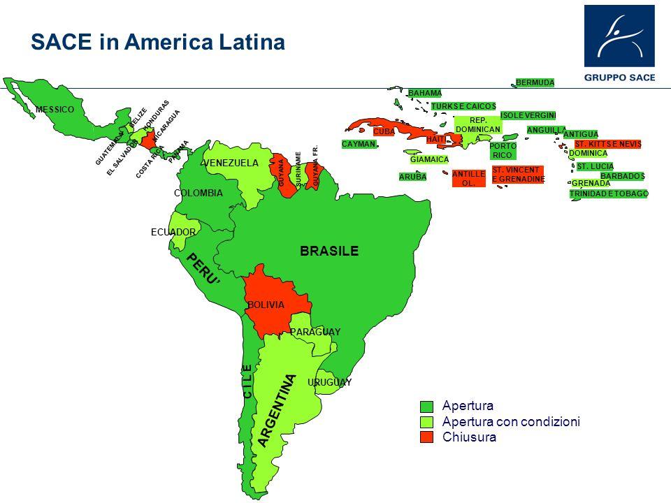 BRASILE ARGENTINA C I L E PERU BOLIVIA PARAGUAY URUGUAY ECUADOR COLOMBIA VENEZUELA SURINAME GUYANA GUYANA FR. MESSICO PANAMA COSTA RICA NICARAGUA EL S