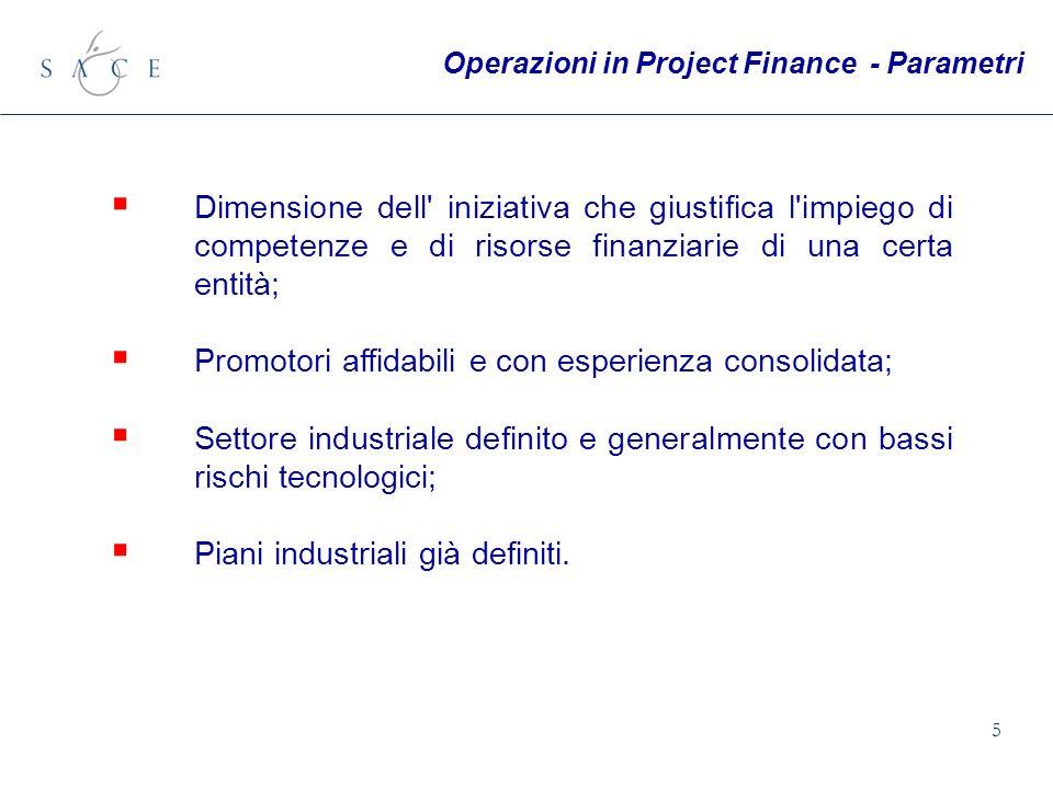 5 Dimensione dell' iniziativa che giustifica l'impiego di competenze e di risorse finanziarie di una certa entità; Promotori affidabili e con esperien