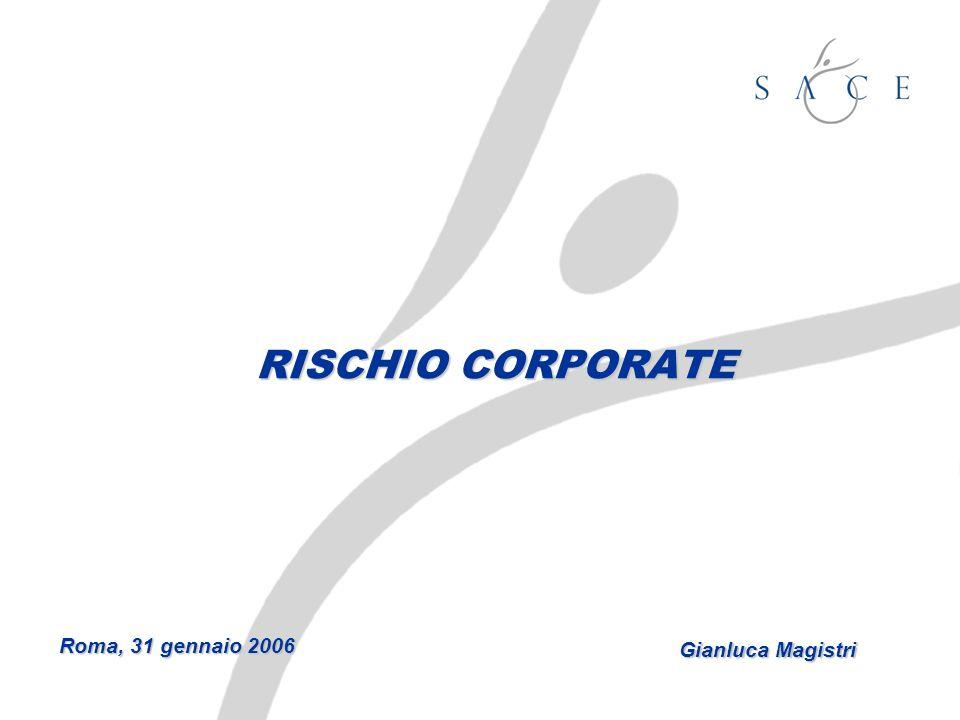 RISCHIO CORPORATE Roma, 31 gennaio 2006 Gianluca Magistri
