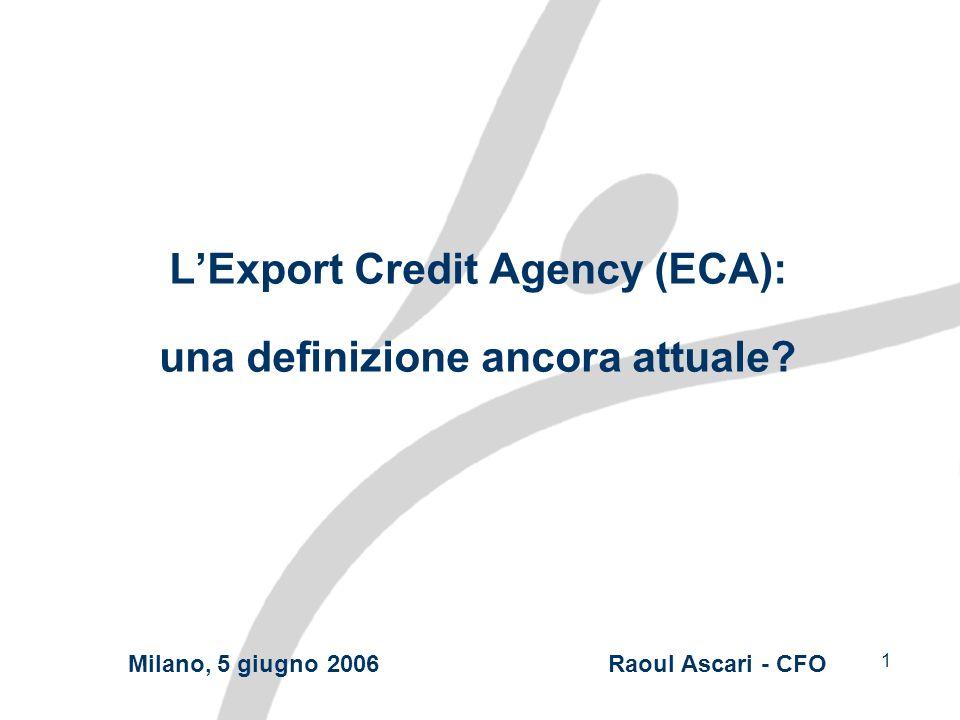 1 LExport Credit Agency (ECA): una definizione ancora attuale.